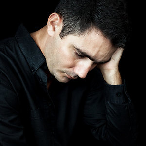 About Counselling. Depressed man