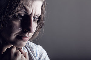 About Counselling. depressed woman